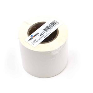 "3"" Continuous Matte Polypropylene Inkjet Label Roll - 100ft Per Roll 2 Inch Core 4 Inch OD"
