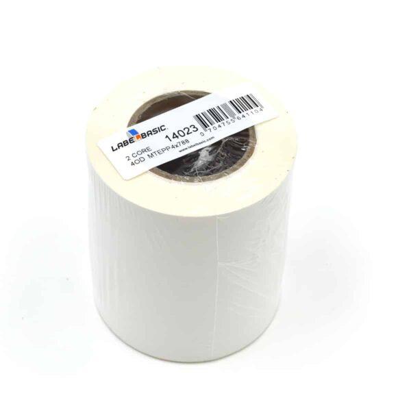 "4"" Continuous Matte Polypropylene Inkjet Label Roll"